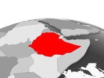 灰色地球的埃塞俄比亚 向量例证