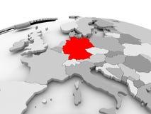 灰色地球的德国 库存例证