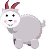 灰色垫铁人员公羊二白色 免版税库存图片