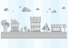 灰色城市 免版税库存照片