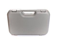灰色塑料工具箱孤立白色背景 库存图片