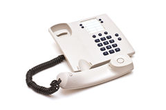 灰色塑料电话 库存照片