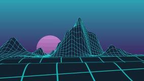 灰色多角形山和黑天空背景presentati的 影视素材