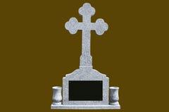 灰色大理石墓碑 免版税库存图片