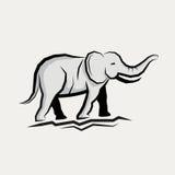 灰色大象传染媒介 向量例证