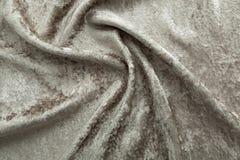 灰色天鹅绒特写镜头 纹理和背景的织品宏指令 免版税库存照片
