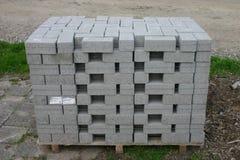 灰色小积木或板材 库存图片