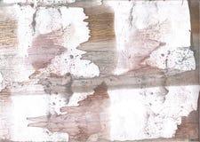 灰色布朗五颜六色的水彩背景 免版税库存图片