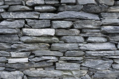 灰色平的石头墙壁  免版税库存照片