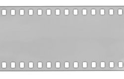 灰色影片小条,宏观射击 免版税库存照片
