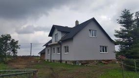 灰色房子 库存图片