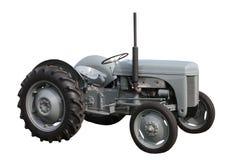 灰色拖拉机 免版税库存照片