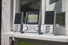 灰色收音机 免版税库存照片