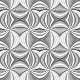灰色无缝的摘要荧光的打旋的光芒爆炸条纹样式背景 向量例证