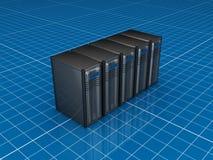 灰色服务器 向量例证