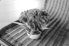 灰色样式花束花 免版税库存图片