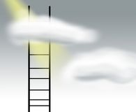 灰色梯子天空 库存照片