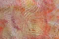灰色橙色纸粘贴红色漩涡 库存图片
