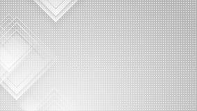 灰色正方形和小点提取几何录影动画 库存例证