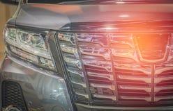 灰色汽车特写镜头,颜色,概念, 免版税库存图片