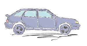 灰色汽车 向量例证
