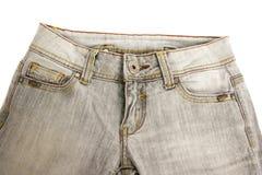 灰色牛仔裤 免版税库存照片