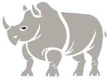 灰色犀牛 向量例证