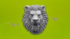 灰色狮子头雕象 图库摄影