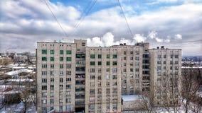 灰色现实,工业城市,每天贫民窟 库存照片