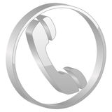灰色电话符号 库存图片