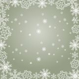 灰色的雪花 免版税图库摄影