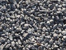 灰色石渣背景-小石头 石聚集体 免版税库存图片