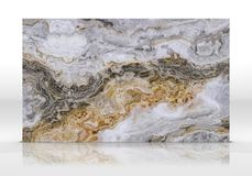 灰色类似玛瑙的条纹大理石瓦片纹理 库存照片