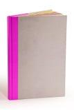 灰色纸板表纸书-裁减路线 免版税库存照片