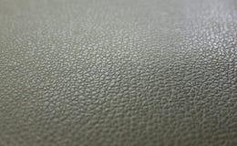 灰色绿的皮革背景表面结构 免版税库存图片
