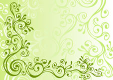 灰色绿色装饰品白色 皇族释放例证