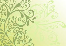 灰色绿色装饰品白色 向量例证