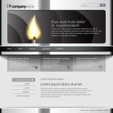 灰色网站模板960网格。 免版税库存图片