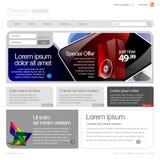 灰色网站模板960网格。 免版税图库摄影