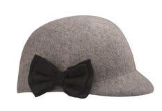 灰色羊毛骑马帽子 库存照片