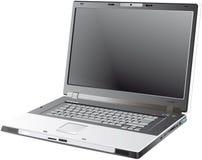 灰色膝上型计算机向量 免版税库存图片