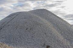 灰色自然石渣瓦砾 免版税图库摄影