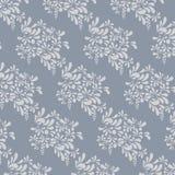 灰色花卉样式。不尽的背景 免版税库存图片