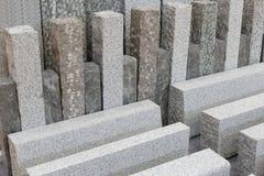 灰色花岗岩石头建筑材料 免版税库存照片