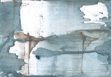 灰色蓝色色的水彩例证 免版税图库摄影