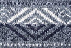 灰色被编织的织品纹理, 免版税库存照片