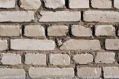 灰色被风化的砖墙纹理 免版税库存图片