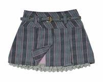 灰色超短裙 免版税库存图片