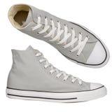 灰色运动鞋 免版税库存照片