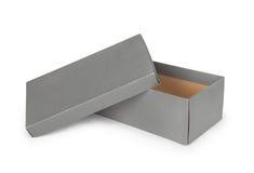 灰色鞋盒 免版税库存照片